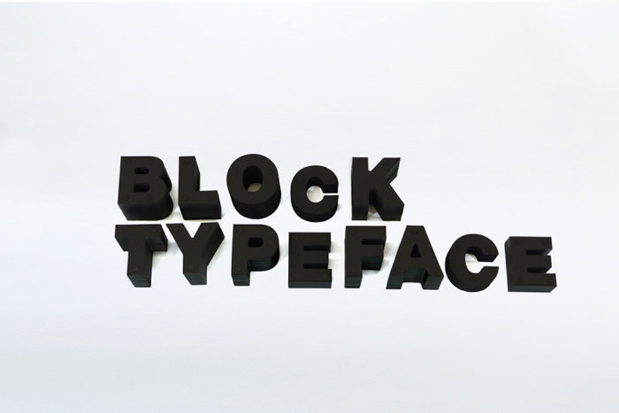 Block Typeface by Daikoku Design Institute