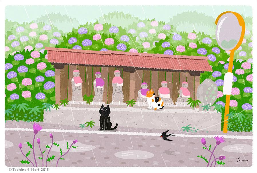 Tabineko: June. Illustration by Toshinori Mori