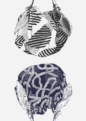 Furoshiki by Link - illustration by Magdalena Dymańska, Japanese Design Blog