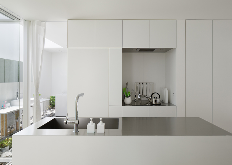 5 modern japanese houses without windows japanese design for Japanese style kitchen sink