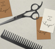Laji Hair And Make Branding by UMA - illustration by Magdalena Dymańska - Japanese Design Blog