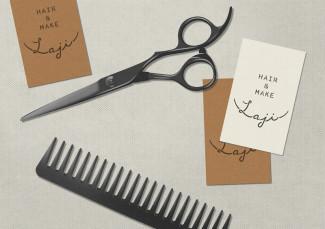 Laji Hair And Make Branding by UMA - illustration by Magdalena Dymańska - Japanese Design Blog