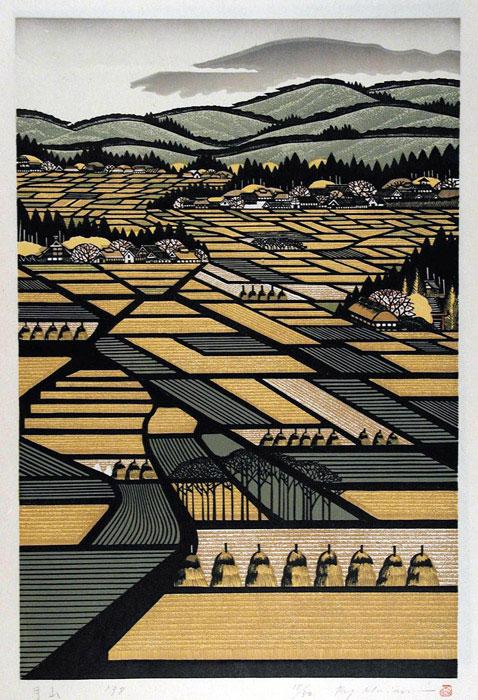 Gasan - Ray Morimura woodblock print