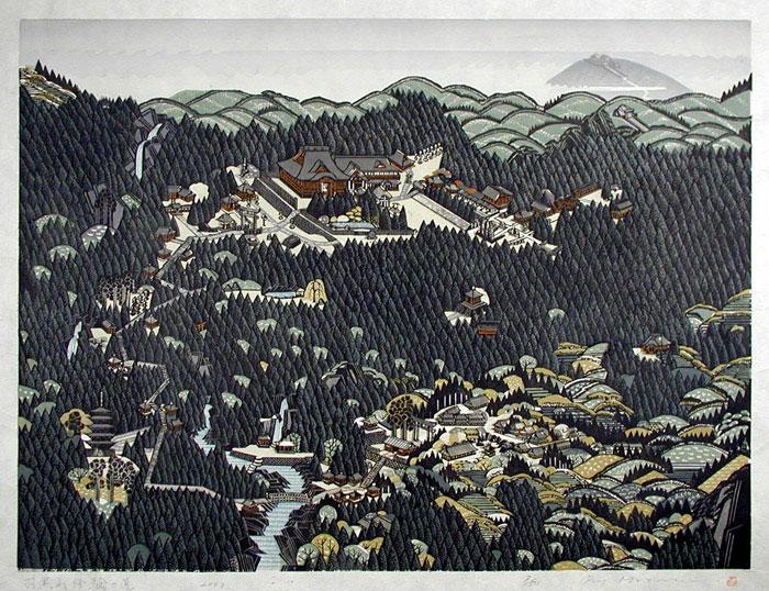 Ray Morimura woodblock print