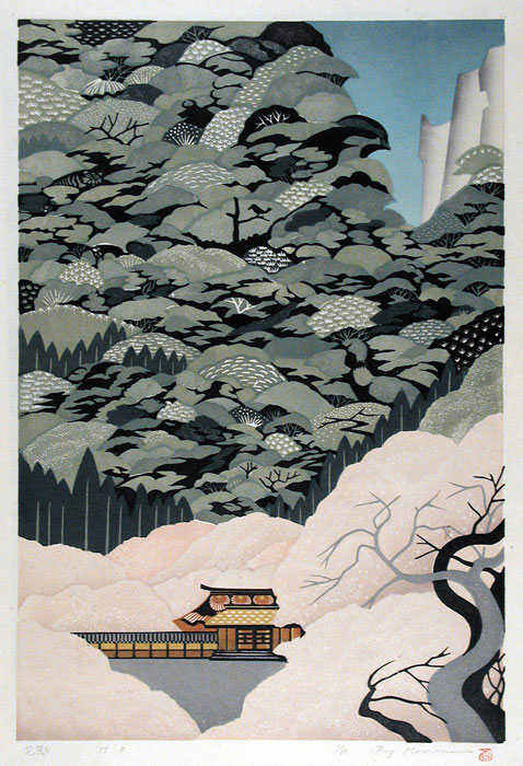 Hanakage - Ray Morimura woodblock print