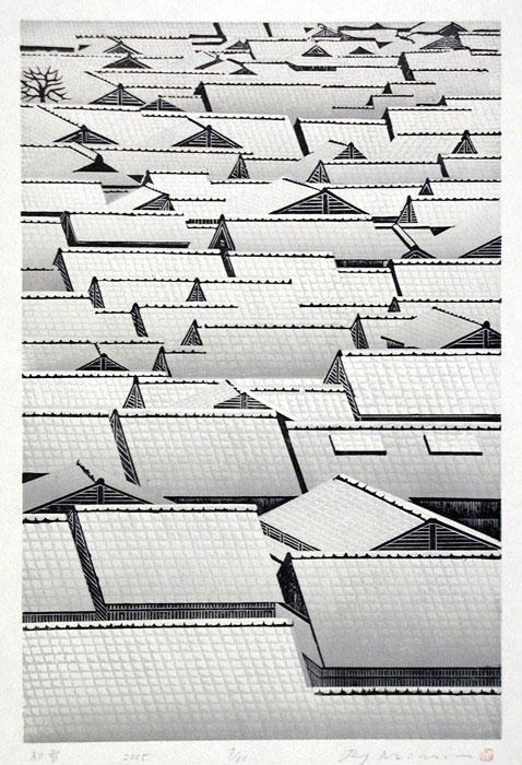 Hatsuyuki - Ray Morimura woodblock print