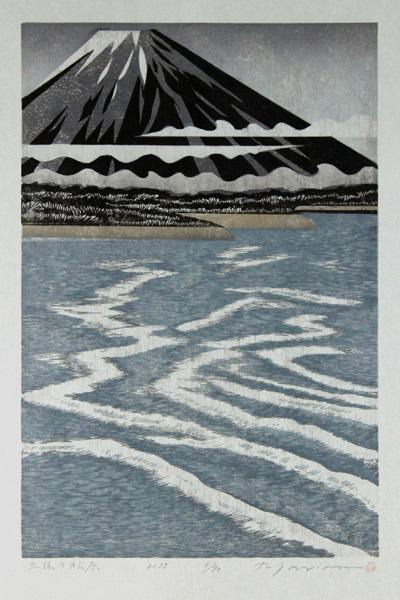 Miho no Matsubara - Ray Morimura woodblock print
