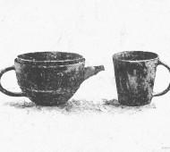 Takeshi Omura ceramics - illustration by Magdalena Dymańska