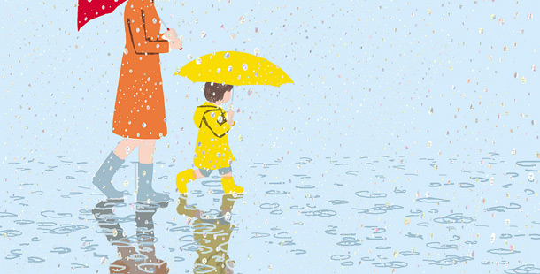 Illustration for children by japanese illustrator Tatsuro Kiuchi