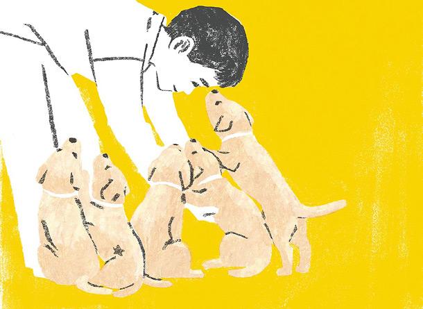 Dog Illustration by japanese illustrator Tatsuro Kiuchi