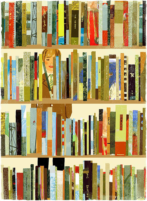 Magazine illustration by japanese illustrator Tatsuro Kiuchi