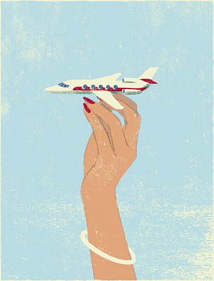 Illustration by japanese illustrator Tatsuro Kiuchi
