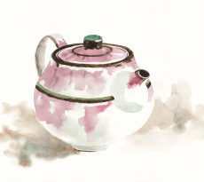 Teapot by Yasuko Ozeki - illustration by Magdalena Dymańska