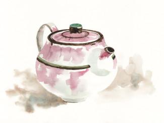 Teapot by Yasuko Ozeki - illustration by Magdalena Dymańska
