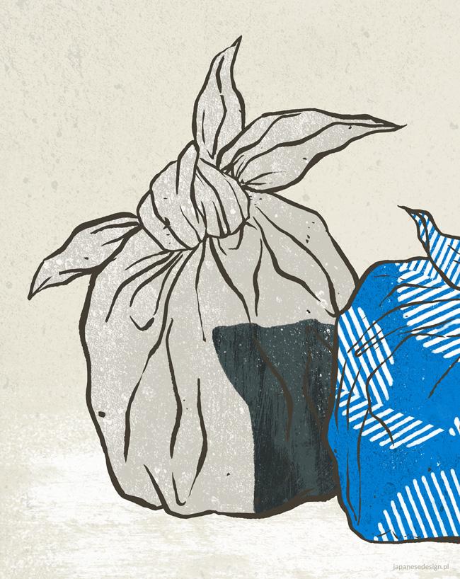 Furoshiki - illustration by Magdalena Dymańska