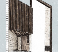 House 45º designed by TSC Architects. Illustration by Magdalena Dymańska