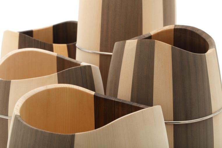 Precious Wood collection designed by Nakagawa Mokkougei