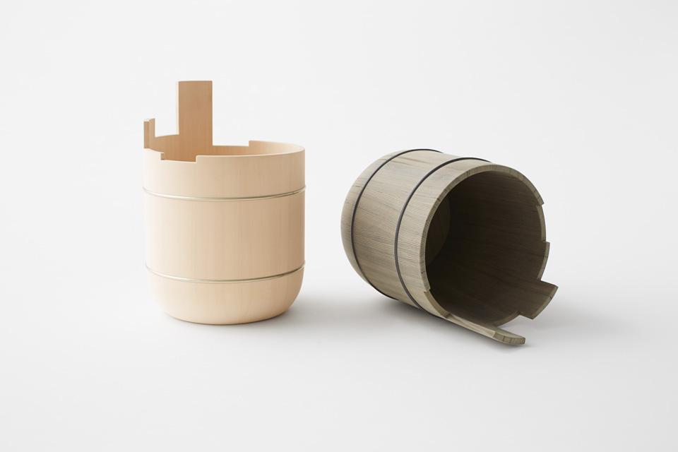 Oke collection designed by Nakagawa Mokkougei and Nendo